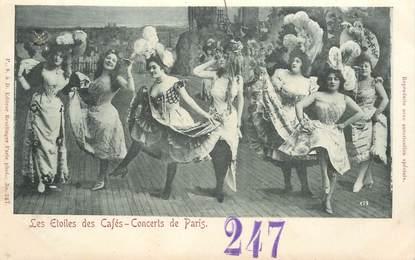 """CPA FRANCE 75 """"Paris, les Etoiles des Cafés, concerts de Paris"""""""