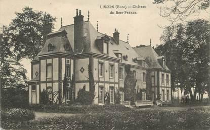 """CPA FRANCE 27 """"Lisors, Le Château de Bois Préaux""""."""