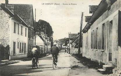 """CPA FRANCE 27 """"Le Goulet, Route de Rouen""""."""