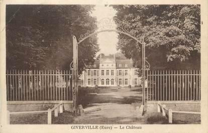 """CPA FRANCE 27 """"Giverville, Le château""""."""