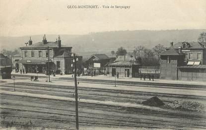 "CPA FRANCE 27 ""Glos Montfort, Voie de Serquigny""."