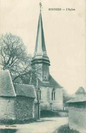 "CPA FRANCE 27 ""Hennezis, L'église""."