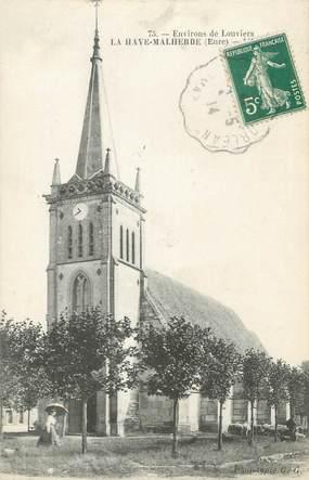 """CPA FRANCE 27 """"La Haye Malherbe, L'église""""."""