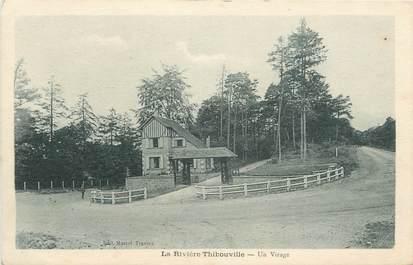 """CPA FRANCE 27 """"La Rivière Thibouville, Un virage""""."""