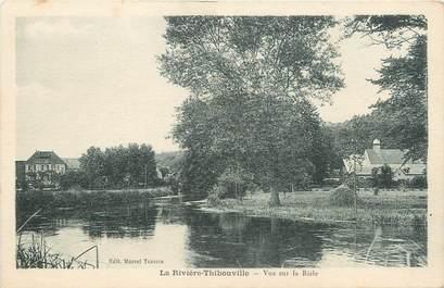 """CPA FRANCE 27 """"La Rivière Thibouville, Vue sur la Risle""""."""