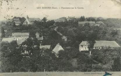 """CPA FRANCE 27 """"Les Hogues, Panorama sur le centre""""."""