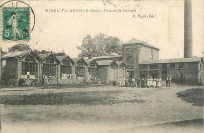 """CPA FRANCE 27 """"Romilly sur Andelle, Filature St Georges""""."""