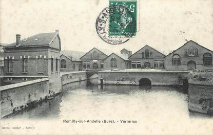 """CPA FRANCE 27 """"Romilly sur Andelle, Verreries""""."""