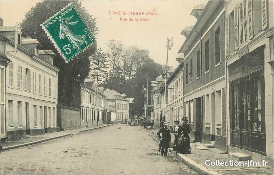 Cpa france 27 pont st pierre rue de la gare 27 eure - Piscine pont st pierre 27 ...