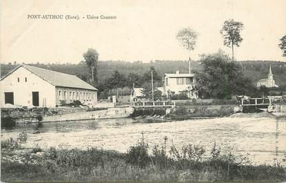 "CPA FRANCE 27 ""Pont Authou, Usine Chardin""."