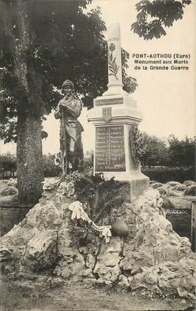 """CPA FRANCE 27 """"Pont Authou, Le monument aux morts""""."""