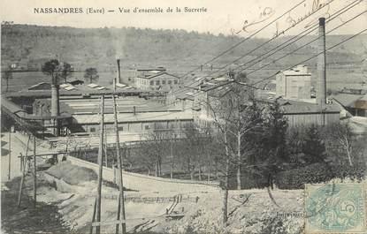 """CPA FRANCE 27 """"Nassandres, Vue d'ensemble de la sucrerie""""."""