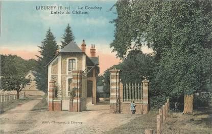 """CPA FRANCE 27 """"Lieurey, Le Coudray, entrée du château""""."""