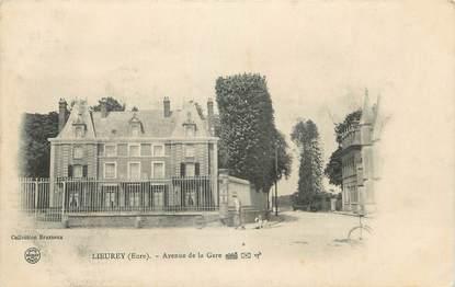 """CPA FRANCE 27 """"Lieurey, Avenue de la gare""""."""