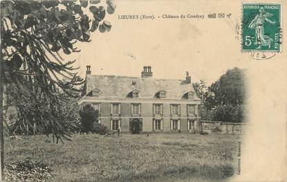 """CPA FRANCE 27 """"Lieurey, Le château du Coudray""""."""