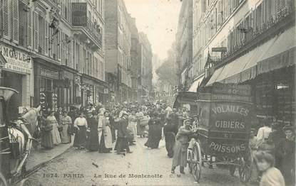 """CPA FRANCE 75017 """"Paris, la Rue de Montenotte"""""""