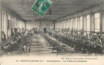"""CPA FRANCE 39 """"Saint Claude, Diamanterie, la taille du diamant"""""""