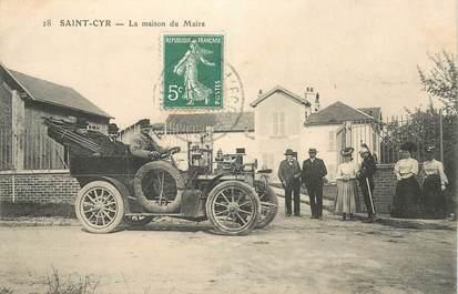 """CPA FRANCE 78 """"Saint Cyr, la Maison du Maire"""" / AUTOMOBILE"""