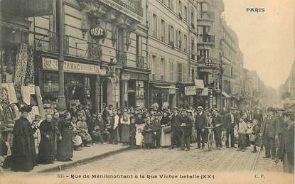 """CPA FRANCE 75020 """"Paris, Rue de Ménilmontant à la rue Victor Letalle"""""""