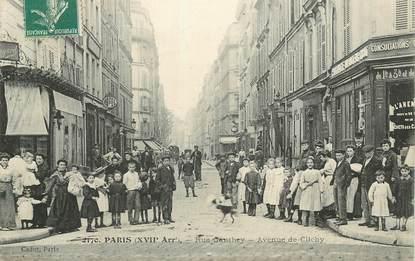 "CPA FRANCE 75017 ""Paris, rue Gauthey, avenue de Clichy"""