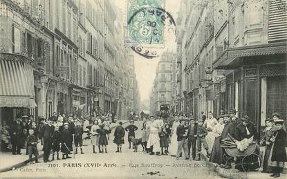 "CPA FRANCE 75017 ""Paris, rue Sauffroy, avenue de Clichy"""
