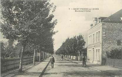 """CPA FRANCE 14 """"St Pierre sur Dives, Boulevard Colas""""."""