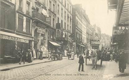 """CPA FRANCE 75019 """"Paris, Le Palais du Travail, rue de Belleville"""""""