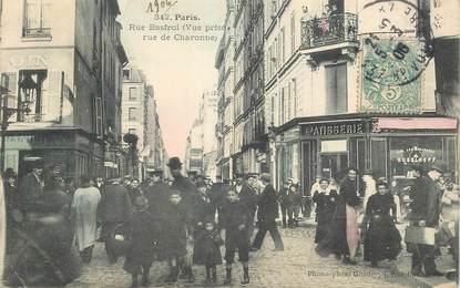 """CPA FRANCE 75011 """"Paris, Rue Basfroi, vue prise rue de Charonne"""""""