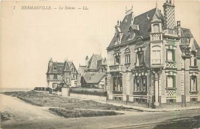 """CPA FRANCE 14 """"Hermanville, La brèche""""."""