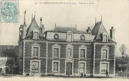"""CPA FRANCE 14 """"Ste Marguerite d'Elle, Villa de la gare""""."""