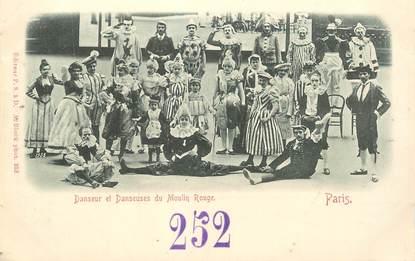 """CPA FRANCE 75018 """"Paris, danseurs et danseuses du Moulin Rouge"""""""