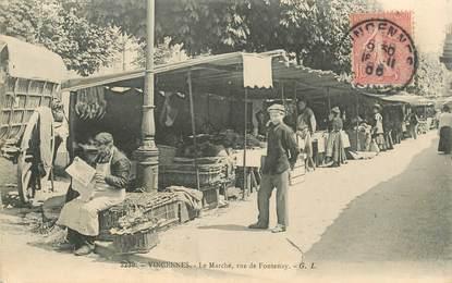 """CPA FRANCE 94 """"Vincennes, le marché, rue de Fontenay"""""""