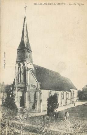 """CPA FRANCE 14 """"Ste Marguerite de Viette, Vue de l'église""""."""