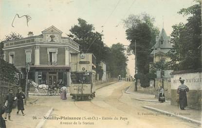 """CPA FRANCE 93 """"Neuilly Plaisance, avenue de la Station"""""""