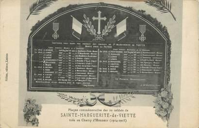 """CPA FRANCE 14 """"Ste Marguerite de Viette, Plaque commémorative des soldats tués au champ d'honneur""""."""