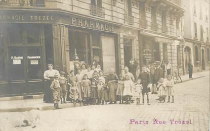 """CARTE PHOTO FRANCE 75017 """"Paris, Rue Trézel"""""""