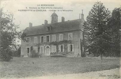 """CPA FRANCE 14 """"Pierrefitte en Cinglais, Le château de la Mivaupière""""."""