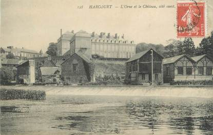 """CPA FRANCE 14 """"Harcourt, L'Orne et le château""""."""