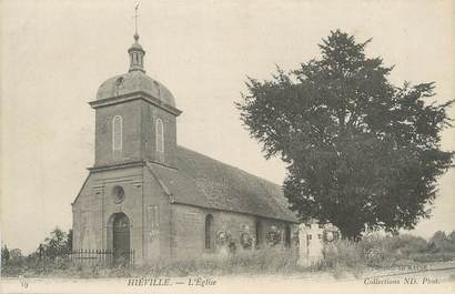 """CPA FRANCE 14 """"Hiéville, L'église""""."""