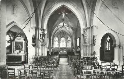 """CPSM FRANCE 14 """"Pont l'Evêque - St Hymer, Intérieur de l'église""""."""