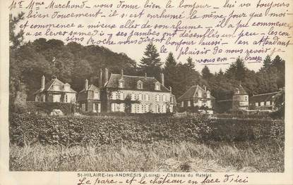 """CPA FRANCE 45 """" St Hilaire les Andrésis, Le château du Ratelet""""."""