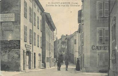 """CPA FRANCE 39 """"St Amour, Entrée de la rue du Châtelet""""."""