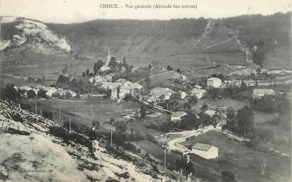 """CPA FRANCE 39 """"Choux, Vue générale""""."""