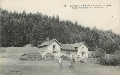 """CPA FRANCE 39 """"Environs de Salins, Forêt de la Joue, maison forestière du Chevreuil""""."""