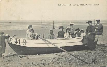 """CPA FRANCE 14 """"Luc sur Mer, en canot"""""""