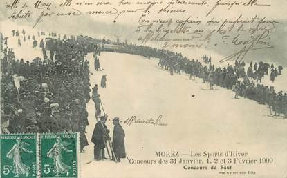"""CPA FRANCE 39 """" Morez, Les sports d'hiver, concours de 1909""""."""