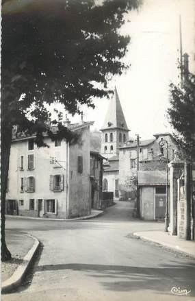 """CPSM FRANCE 38 """"Tulllins, L'église""""."""