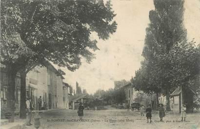 """CPA FRANCE 38 """"St Bonnet de Chavagne, La place""""."""
