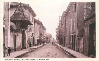 "CPA FRANCE 38 ""St Etienne de St Geoirs, Grande rue""."