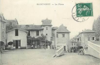 """CPA FRANCE 38 """"St Chef, La Place""""."""